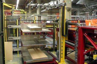 Robotická paletizace kartonových přířezů