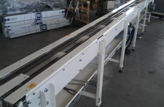 Conveyors for aluminium motor blocks