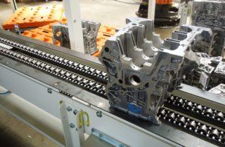 2. Robotická paletizace, dopravníky a lineární manipulátor
