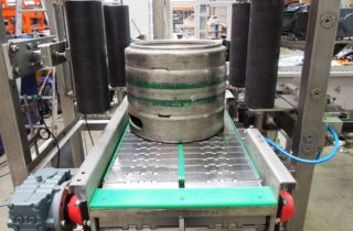 Robotic palletization and depalletization of KEG barrels